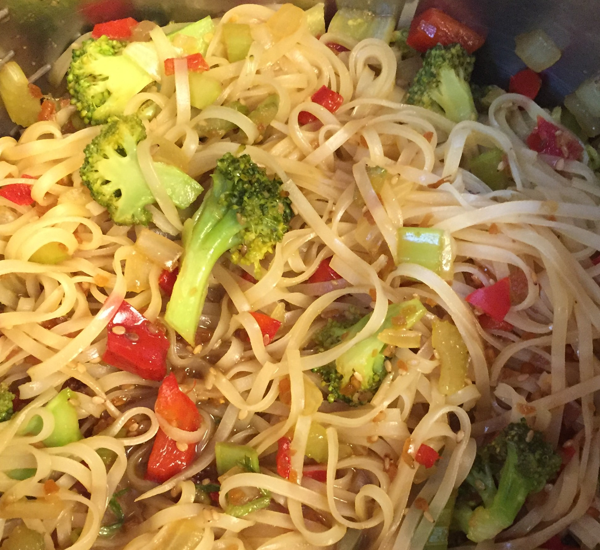 Teriyaki Rice Noodles with Veggies - SPICE OF THE GOOD ...